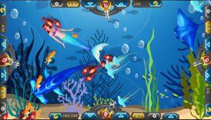 Màn săn cá cạnh tranh đối xứng giữa 4 người chơi tương tự với phiên bản bắn cá siêu thị hay bắn cá khác