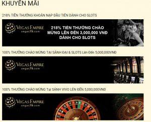 Chào đón người tham gia lần đầu với khuyến mãi cực đã tại nhà cái Vegas79 Empire