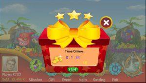 Kiếm xu khi làm những nhiệm vụ cũng như nhận phần thưởng khi vào Game Fishign Hooking Daily